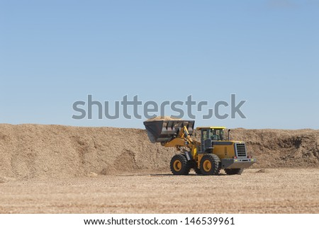industris bulldozer working on the forest