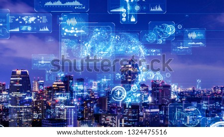Industry and data analytics concept. GUI (Graphical User Interface). #1324475516