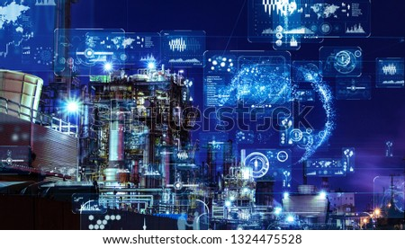 Industry and data analytics concept. GUI (Graphical User Interface). #1324475528