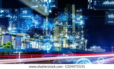 Industry and data analytics concept. GUI (Graphical User Interface). #1324475531