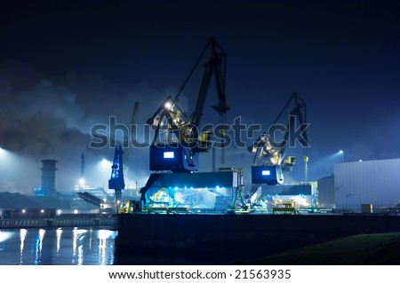 Industry at night(ijmuiden Netherlands)