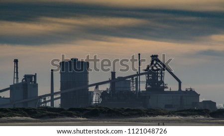 Industry at Teesside. On the north east coast of the UK. England.