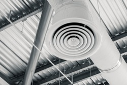 Industry Building interior Air Duct Air Condition pipe ceiling Air flow industrial design