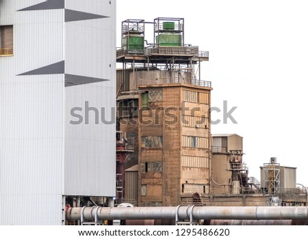 Industry buildings of a cement factory