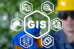 Industry concept of GIS Geographic Information System.