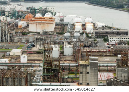 Industry manufacturing factory stock photo