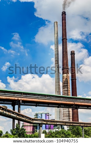industry tubes and chimneys