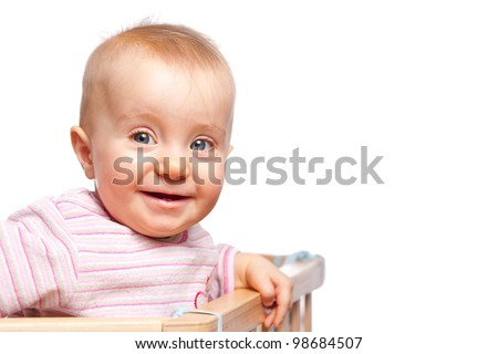 Infant in a cot