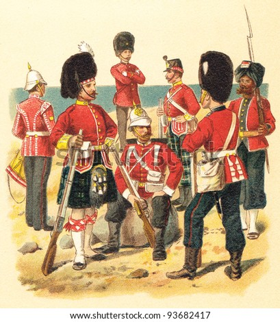 infantry great britain  ...