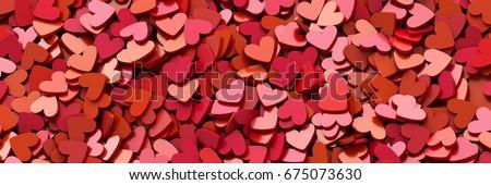 Infinite hearts background, original 3d rendering, love theme