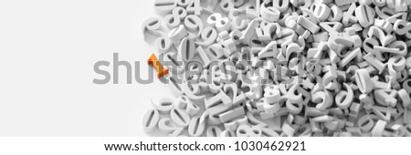 Infinite random numbers, original 3d rendering background, technology and science concepts