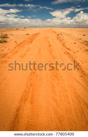 Infinite sandy road, Kenya
