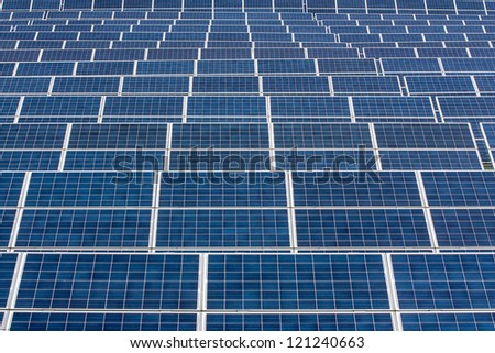 Infinite series of solar panels