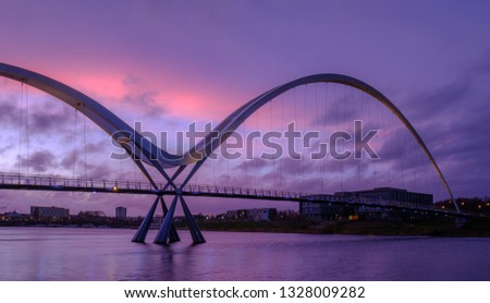 Infinity Bridge on the River Tees, Stockton-on-Tees