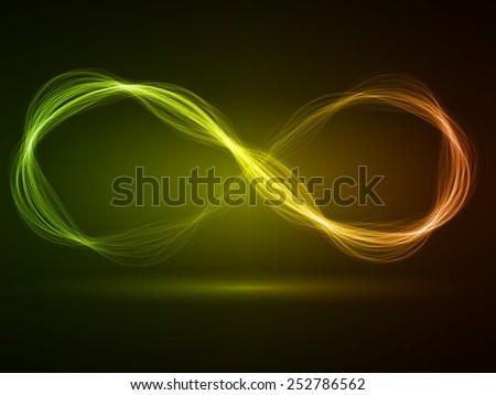 infinity energy waves loop (multi colored,wide waves version)