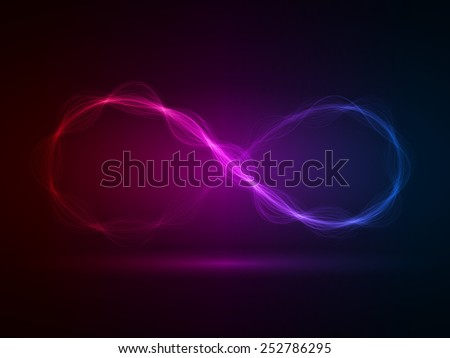 infinity energy waves loop (red,violet and blue colored,short waves version)
