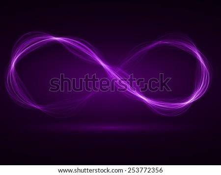 infinity energy waves loop (violet colored,wide waves version)