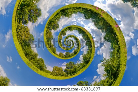 Infinity Planet. Ecology and environment conservation concept