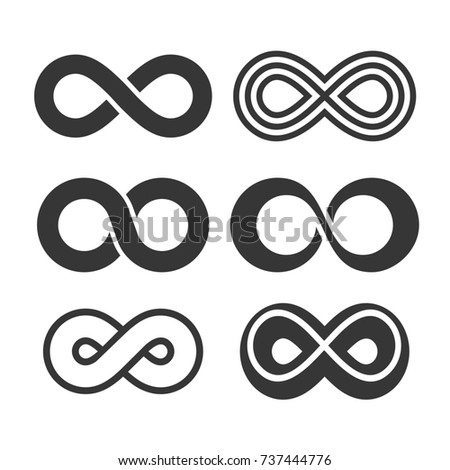 Infinity Symbol Icons Set.