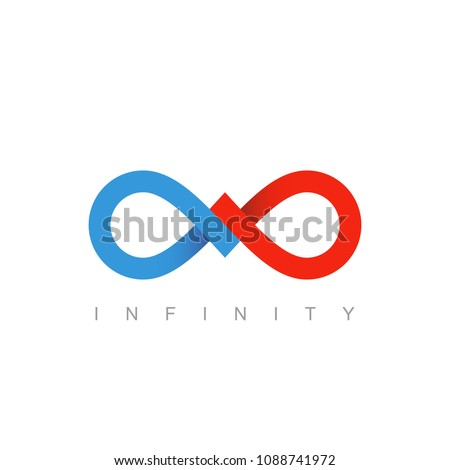 infinity symbol or sign. infinite icon. limitless logo. mobius strip. business communication concept. isolated on white background