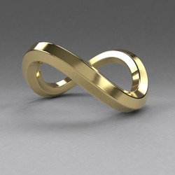 Infinity symbol or sign isolated