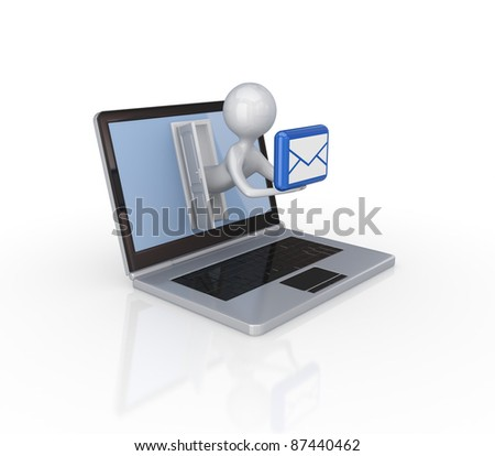Info business concept.Isolated on white background.3d rendered.