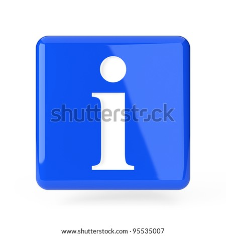 Info icon. 3d render illustration isolated on white background