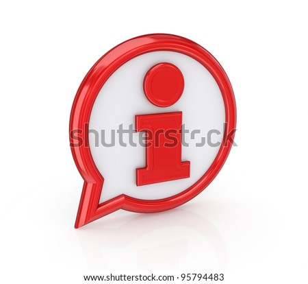 Info icon.Isolated on white background.3d rendered.