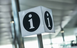 info point symbol on a airport