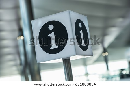 info point symbol on a airport #651808834