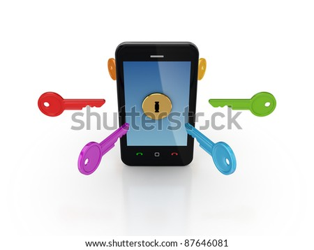 Info safety concept.Isolated on white background.3d rendered.