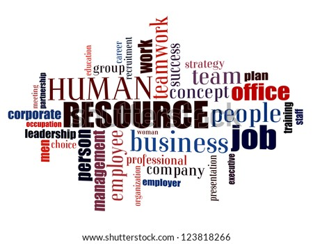 Info text graphic Human Resource in word shape isolated in white background