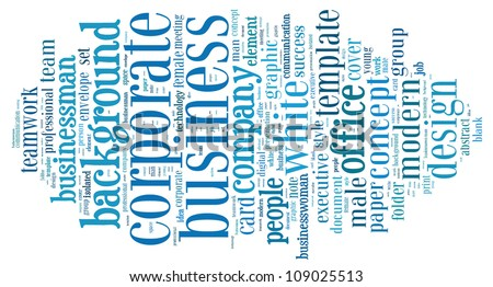 Info-text graphics Business composed in cloud shape concept in white background