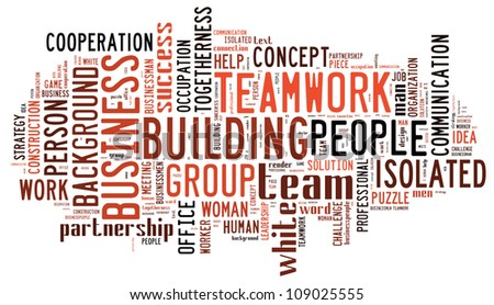 Info-text graphics Team work composed incloud shape concept in white background
