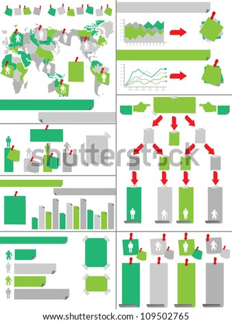 INFOGRAPHIC DEMOGRAPHICS POST IT GREEN