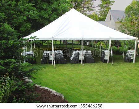 informal events tent in the backyard #355466258