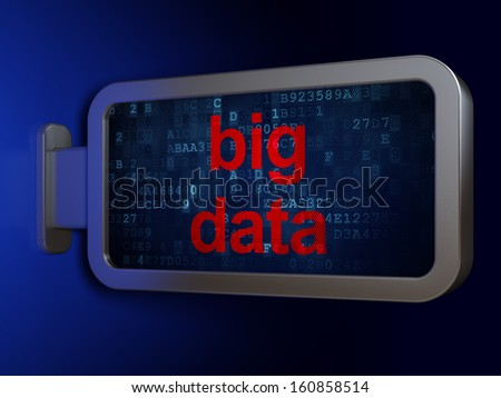 Information concept: Big Data on advertising billboard background, 3d render
