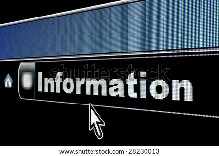 Information concept on an internet browser URL address