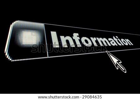 Information concept on an internet browser URL address