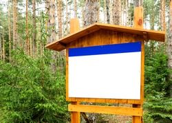 Information stand in the woods