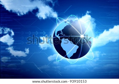 Information technology. Conceptual image for information technology, cloud computing or internet. Great for backgrounds or main image in your design
