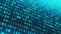 Information technology digital binary code background seamless loop 4k