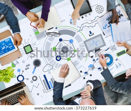 Information Technology Digital Network Concept