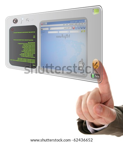 information technology on touchscreen tablet