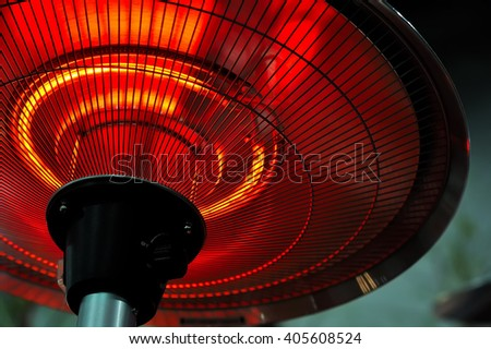 Infrared heater round shape, background