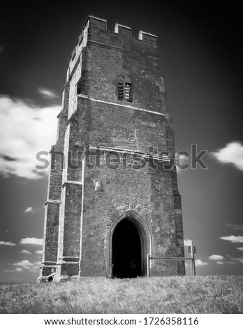 Infrared Image of Glastonbury Tor Stock fotó ©