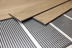 infrared underfloor heating film under laminate floor
