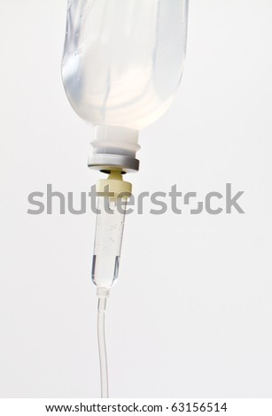 Infusion bottle with IV solution