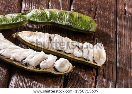 Inga edulis tropical fruit in pod - Healthy food Stock photo ©