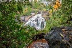 Inglis Falls In Owen Sound, Ontario Canada.